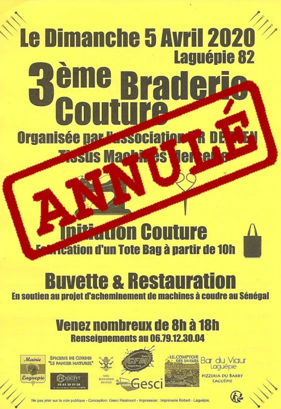 3èm BRADERIE COUTURE 05/04/20