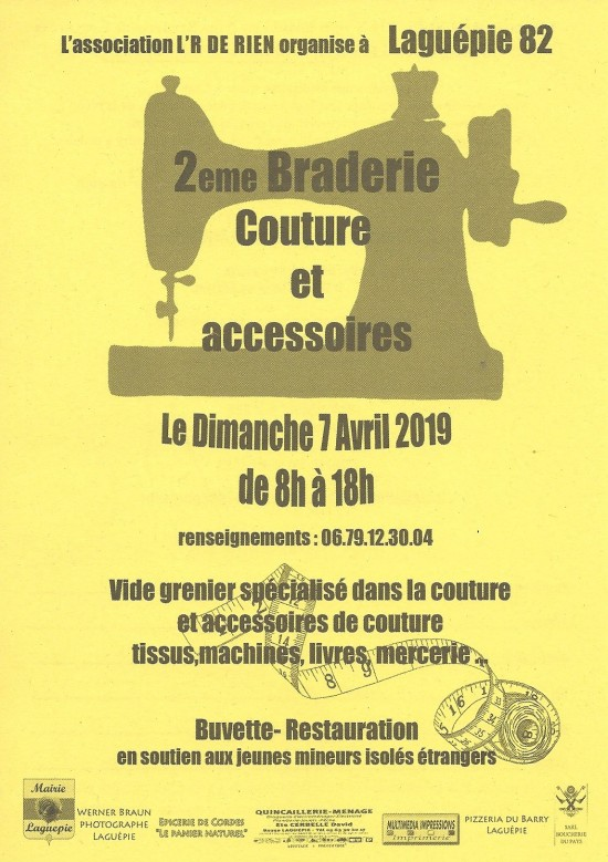2ième BRADERIE COUTURE 7 Avril 2019